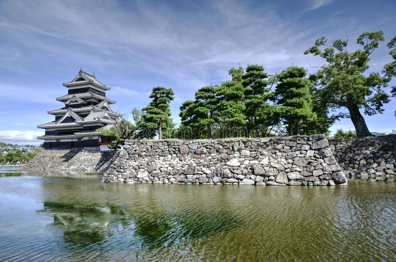 Matsumoto Castle, Japan. Matsumoto castl in Matsumoto city in apan is one of the best Japanese castle which survive from history and now it is listed as a royalty free stock photos