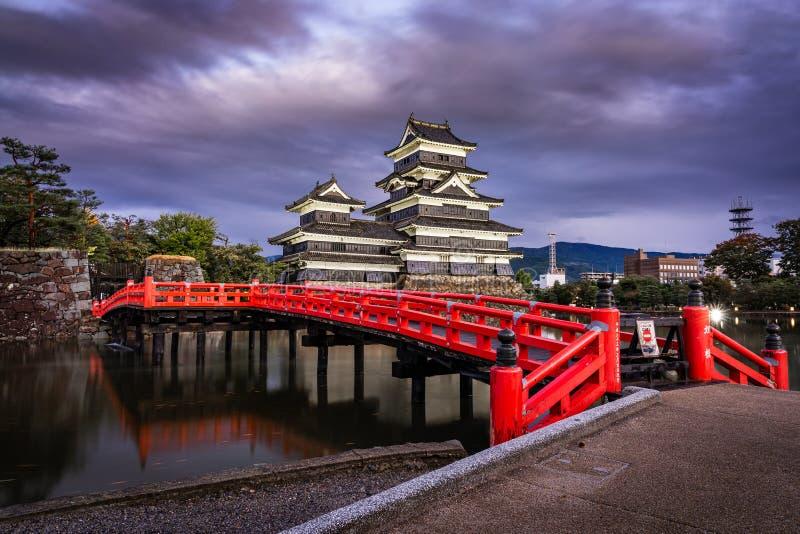 Matsumoto Castle at night, Japan royalty free stock photography