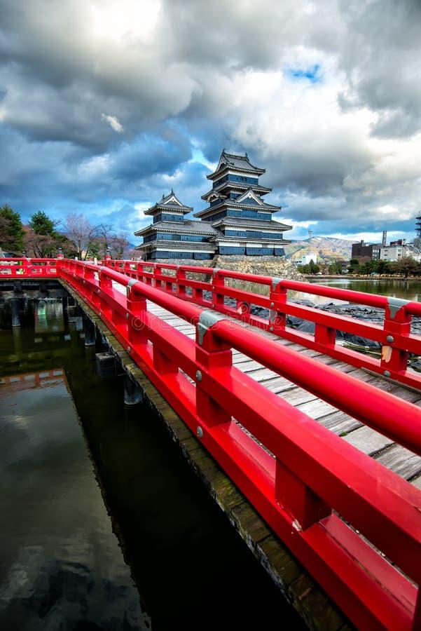 Matsumoto kasztel, Nagano, Japonia obrazy royalty free