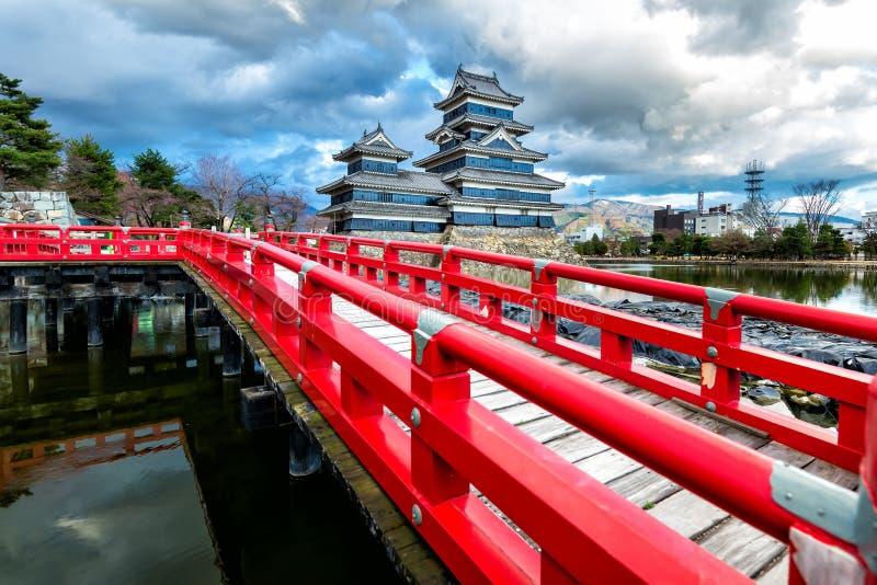 Matsumoto kasztel, Nagano, Japonia fotografia royalty free