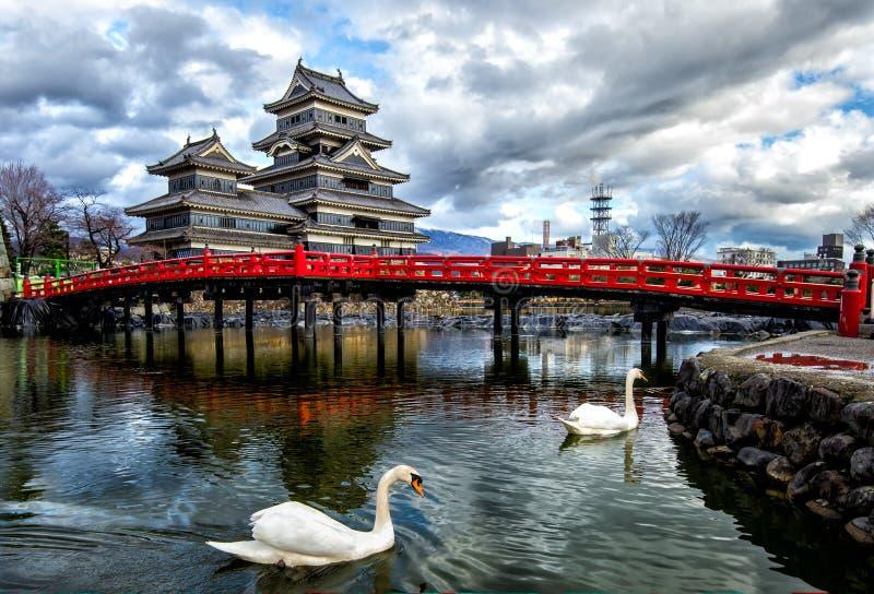 Matsumoto kasztel, Nagano, Japonia zdjęcie stock