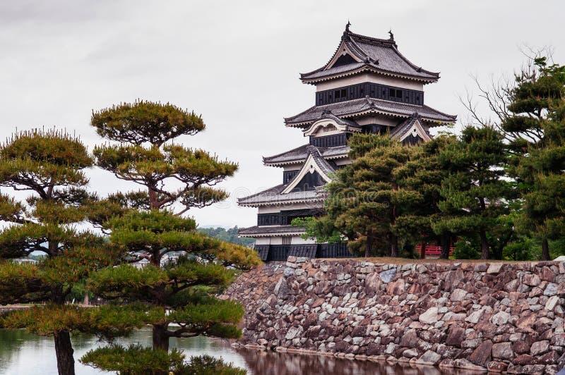 Matsumoto Roszuje Japonia najważniejszego historycznego kasztel - Czarna wrony obsada zdjęcie stock