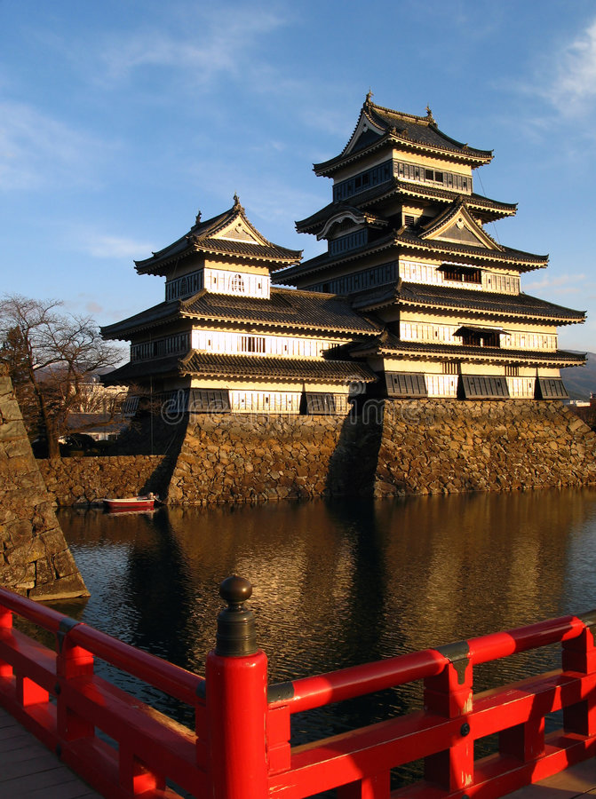 Matsumoto-Schloss 01, Japan lizenzfreie stockbilder