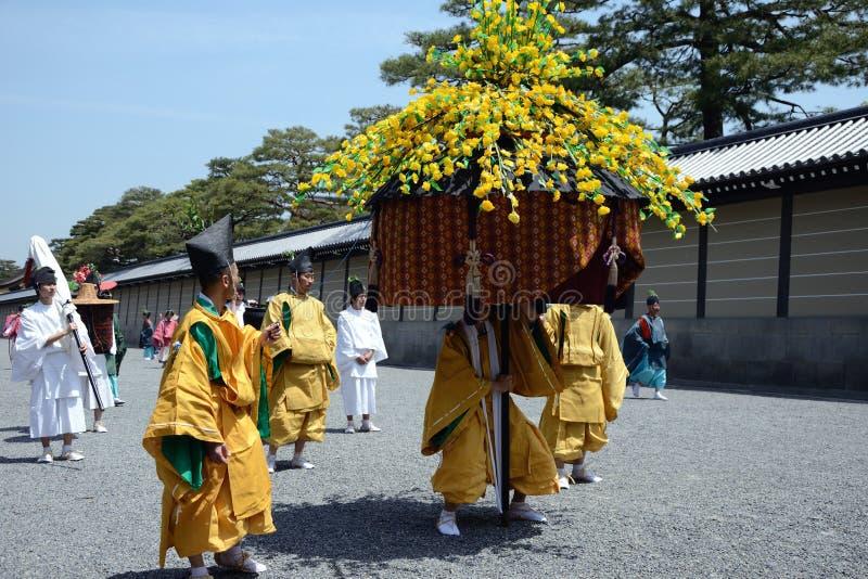 matsuri φεστιβάλ aoi hollyhock στοκ φωτογραφίες