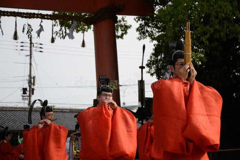 matsuri φεστιβάλ aoi hollyhock στοκ φωτογραφία με δικαίωμα ελεύθερης χρήσης