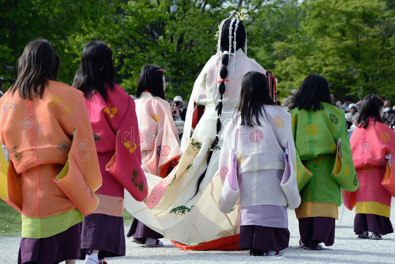 matsuri φεστιβάλ aoi hollyhock στοκ φωτογραφίες με δικαίωμα ελεύθερης χρήσης