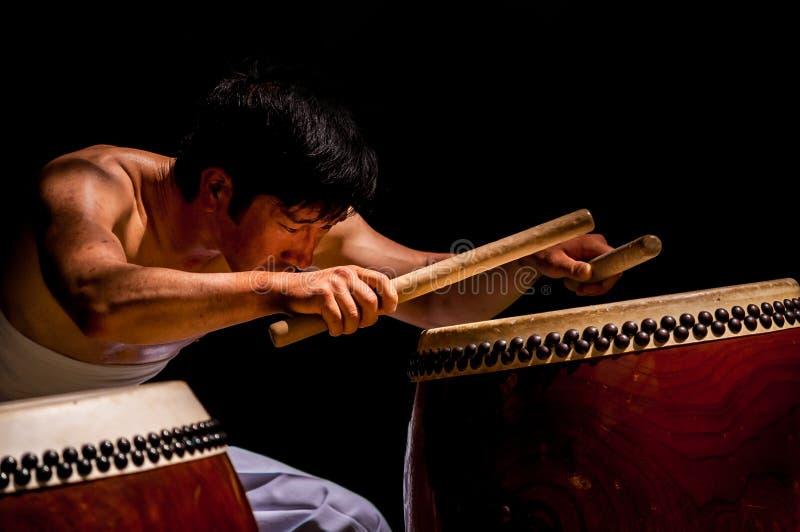 Matsuri drummer royalty free stock photo