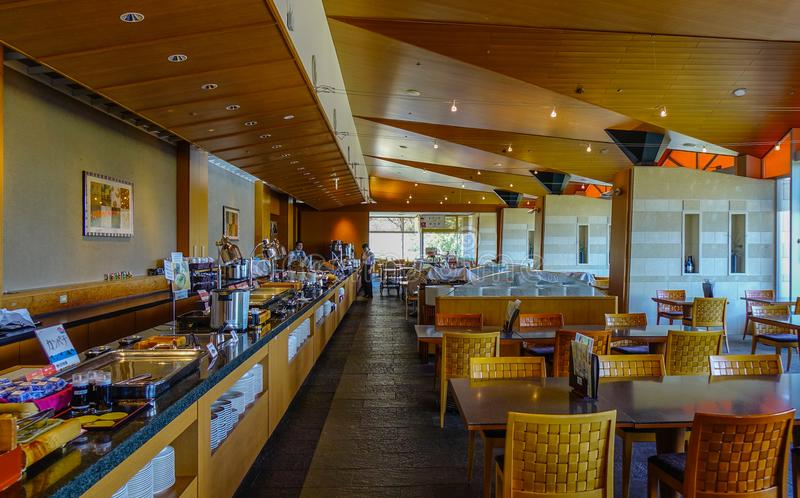 Interior of a buffet restaurant stock image