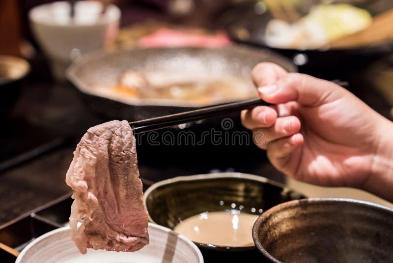 Matsusakarundvlees Shabu royalty-vrije stock foto's