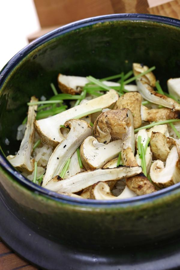 Matsutake gohan, alimento japonês fotos de stock
