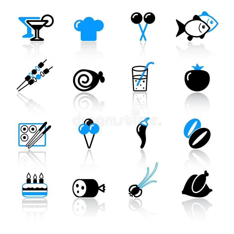 matsymboler vektor illustrationer