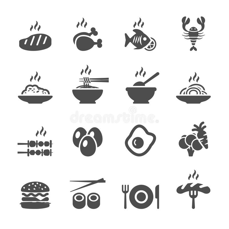 Matsymbolsuppsättning, vektor eps10 vektor illustrationer