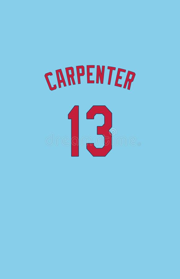 Matt Carpenter St Louis Cardinals Jersey Back arkivfoton