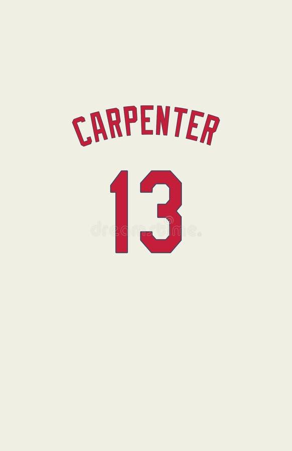Matt Carpenter St Louis Cardinals Jersey Back royaltyfri bild