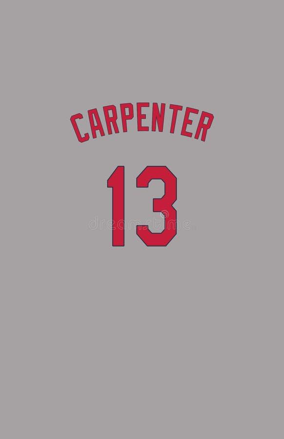Matt Carpenter St Louis Cardinals Jersey Back arkivbild