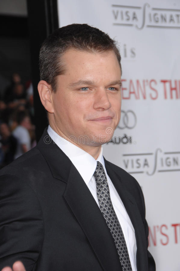 Matt Damon fotos de stock royalty free