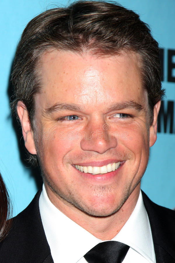 Matt Damon foto de stock