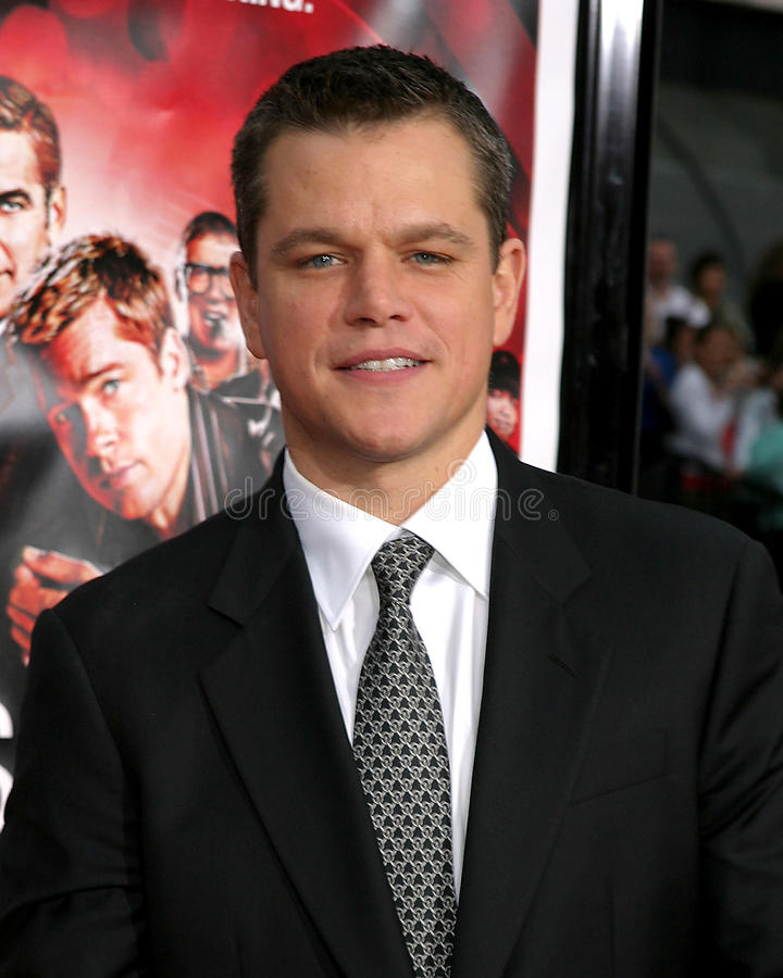 Matt Damon foto de stock royalty free
