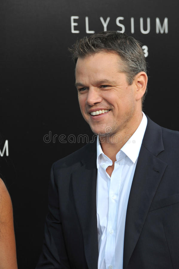 Matt Damon imagem de stock royalty free