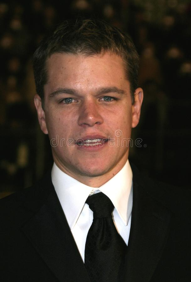 Matt Damon royaltyfria bilder