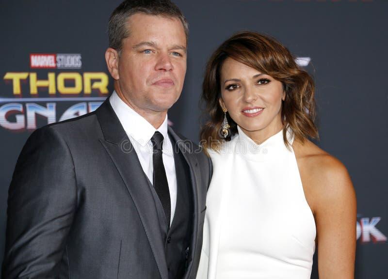 Matt Damon e Luciana Barroso imagens de stock royalty free