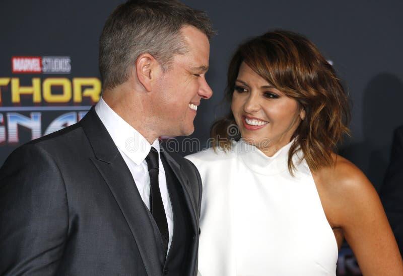 Matt Damon e Luciana Barroso foto de stock royalty free