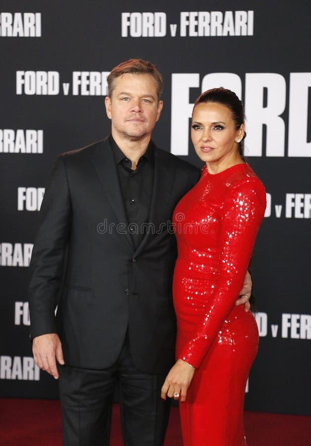 Matt Damon et Luciana Barroso photographie stock