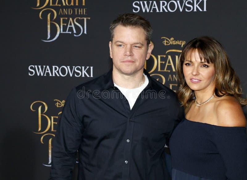 Download Matt Damon Et Luciana Barroso Photo éditorial - Image du angeles, capitan: 87708471