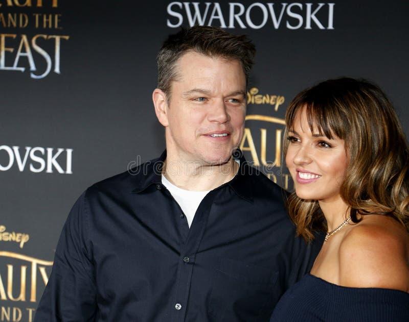 Download Matt Damon Et Luciana Barroso Photo stock éditorial - Image du hollywood, california: 87708528