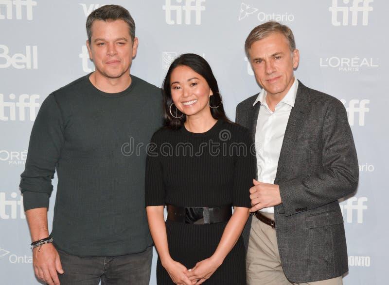 Matt Damon-` Gesundschrumpfung ` Premiere an internationalem Film-Festival 2017 Torontos stockfotografie