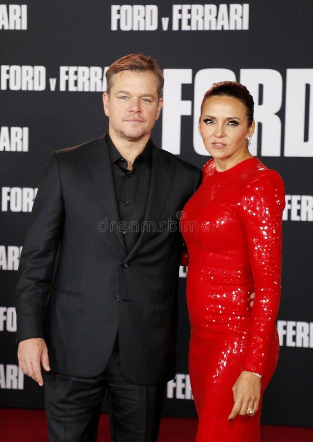 Matt Damon and Luciana Barroso royalty free stock images