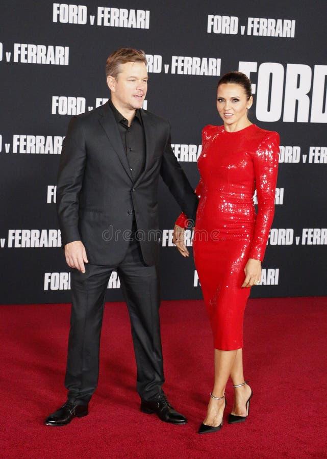 Matt Damon and Luciana Barroso royalty free stock photography