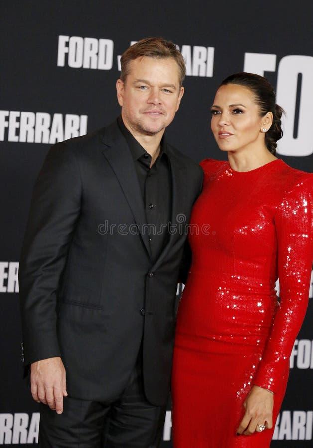 Matt Damon and Luciana Barroso stock images