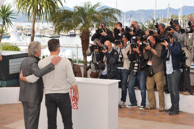 Matt Damon,Michael Douglas. Matt Damon & Michael Douglas at photocall for their movie 'Behind the Candelabra' at the 66th Festival de Cannes. May 21, 2013 Cannes stock photos