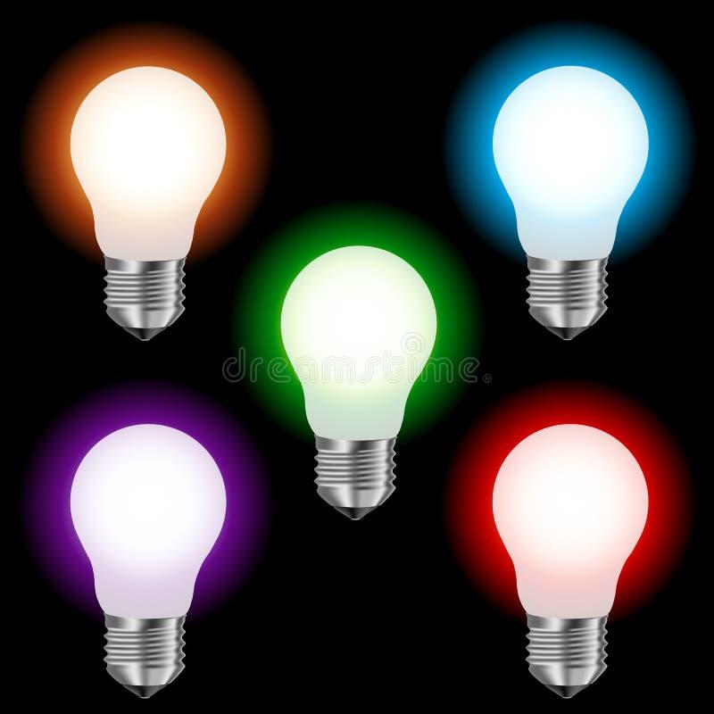 Matt färgade lampbelysning vektor illustrationer