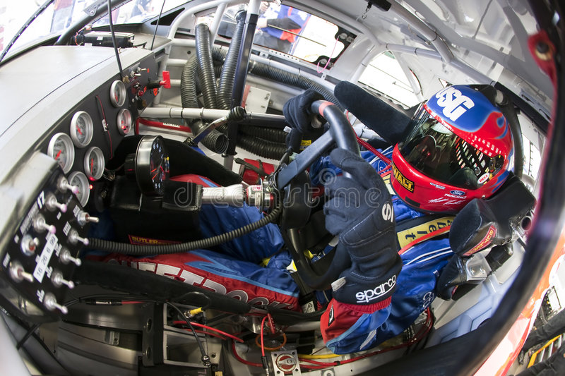 Matt Kenseth im Cockpit stockbilder