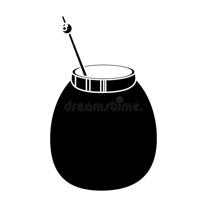 Matt pictogram för tekalebassört vektor illustrationer