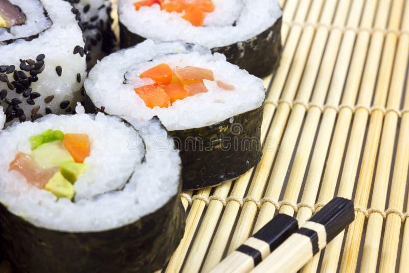 matta sushi royaltyfria foton