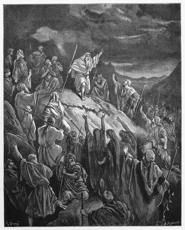 Mattathias, das den jüdischen Flüchtlingen appelliert vektor abbildung