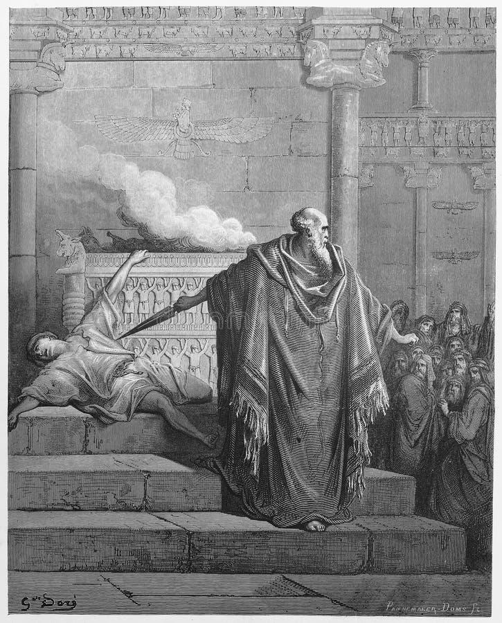 Mattathias en de Apostaat stock illustratie