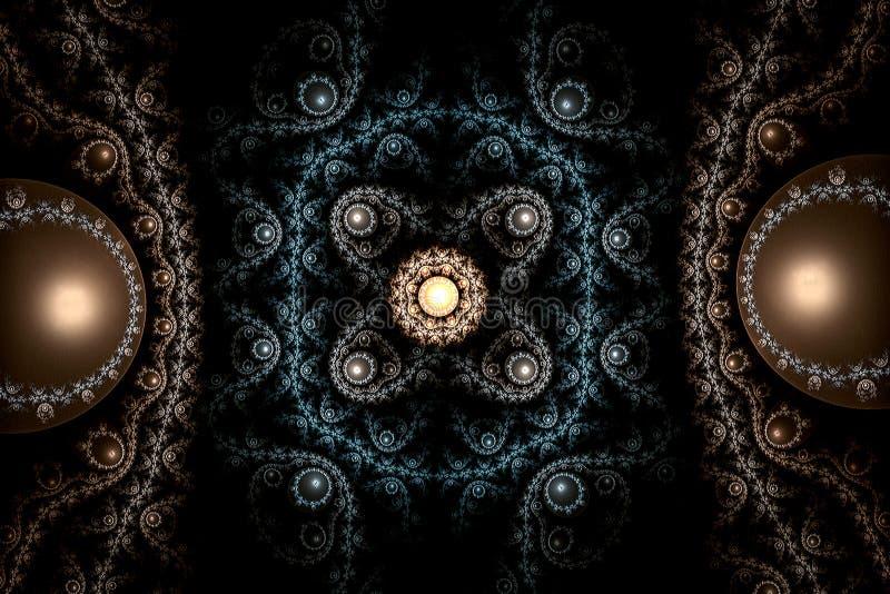 mattblått för abstrakt begrepp 3d royaltyfri illustrationer