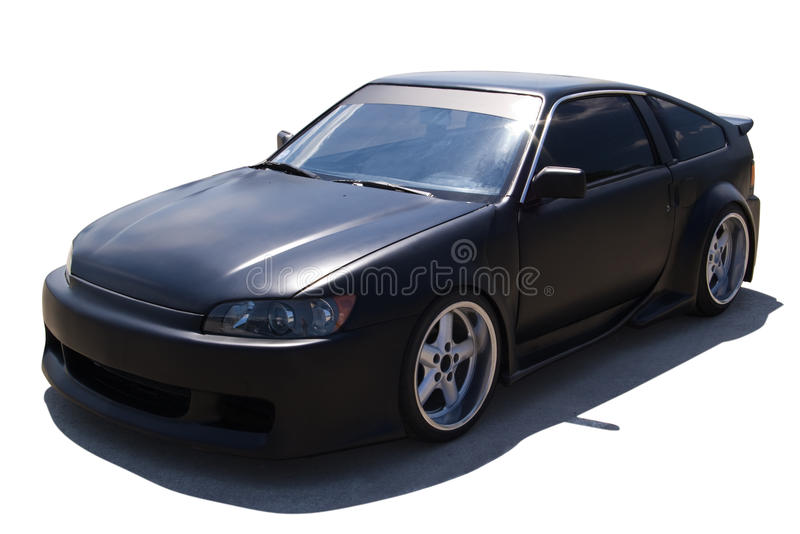 Matte black car royalty free stock photo