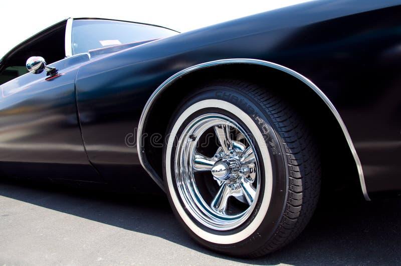 Matte Black Lowrider Buick Riviera lizenzfreie stockbilder