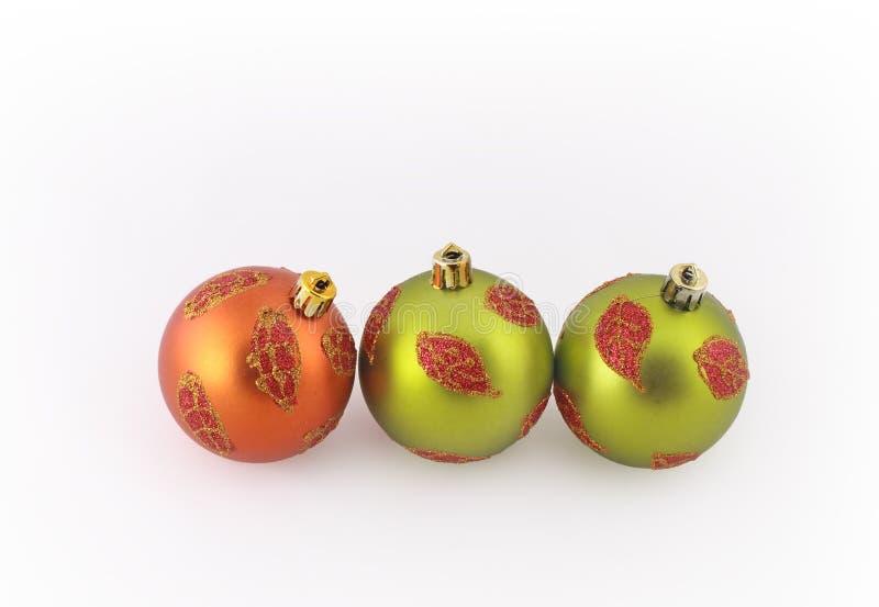 Matte Christmas balls royalty free stock photo