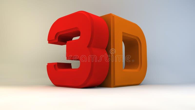 Matte kulör logo som 3D isoleras på vit bakgrund stock illustrationer
