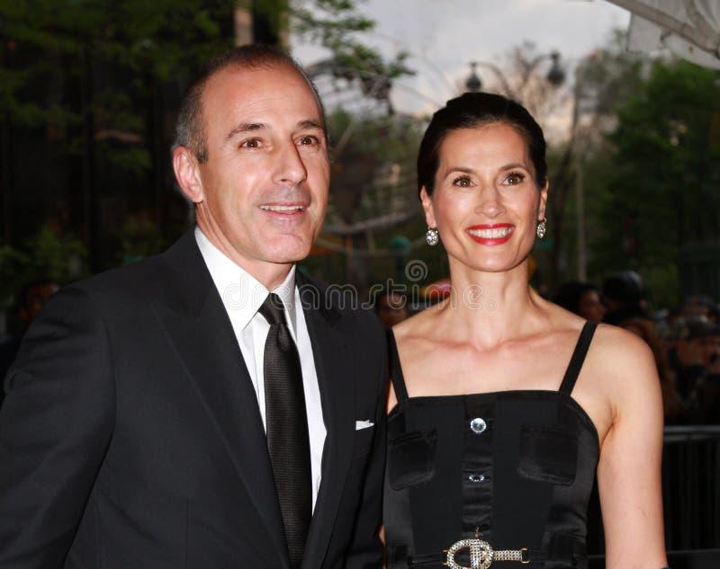 Matte Lauer en Annette Roque royalty-vrije stock afbeelding