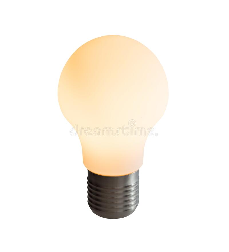 Free Matte Light Bulb Isolated On White Background Royalty Free Stock Image - 172933276