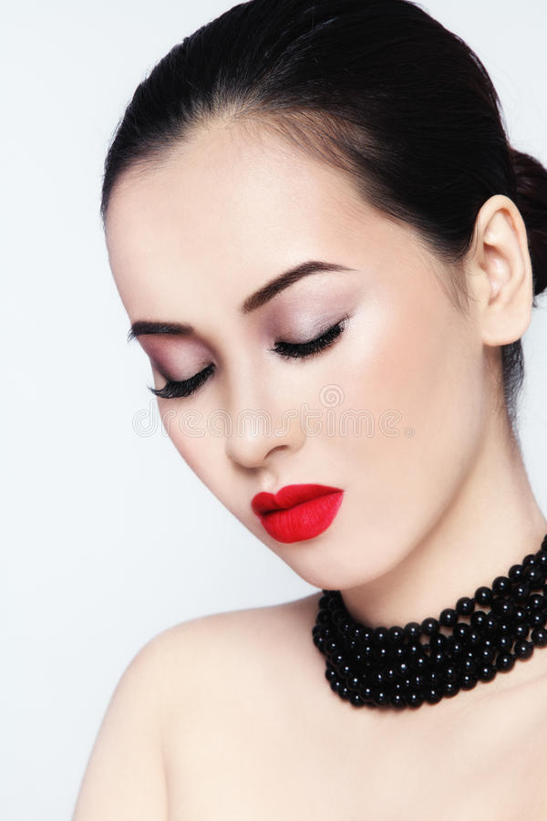 Matte lipstick stock photography