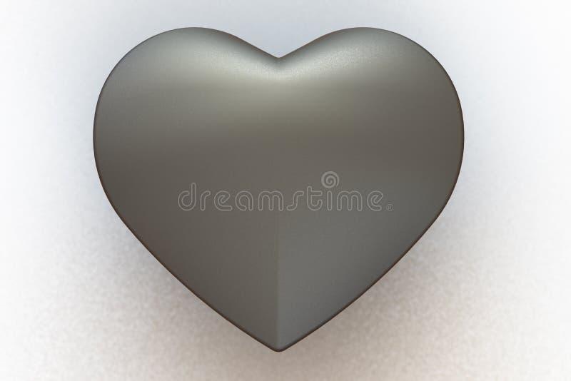 Matte Metal Heart imagens de stock