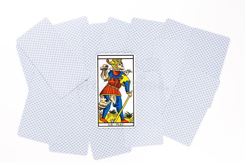 Matte tarot de kaart trekt royalty-vrije stock afbeeldingen